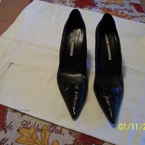 TOMMY HILFIGER LEATHER TEXTURED PUMPS SHOES 9.5